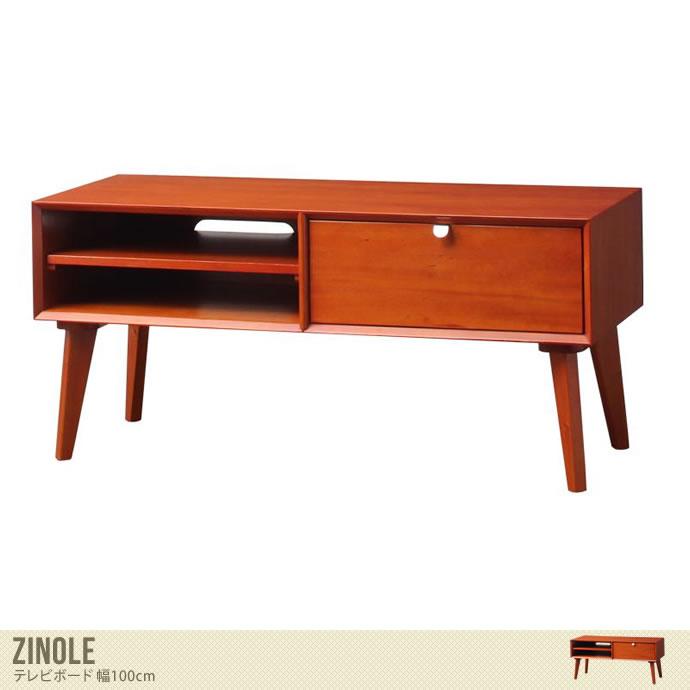 【幅100cm】 コンパクトサイズのテレビボード/色・タイプ:ブラウン 【幅100cm】 Zinole テレビボード