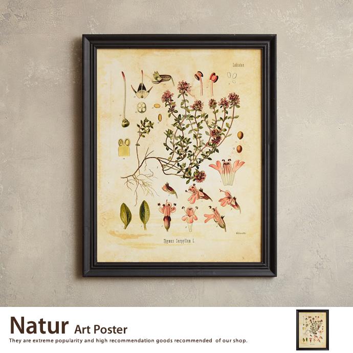 【アートポスター】Natur Art Poster アートポスター ポスター ウッドフレーム 壁掛け 床置き 額付き インテリア>インテリア小物