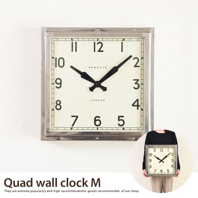 送料無料!【大型時計】Quad wall clock(M) Quad wall clock 【M】 【40×40cm】 掛け時計 【NEW GATE ニューゲート】 大型時計 シルバー