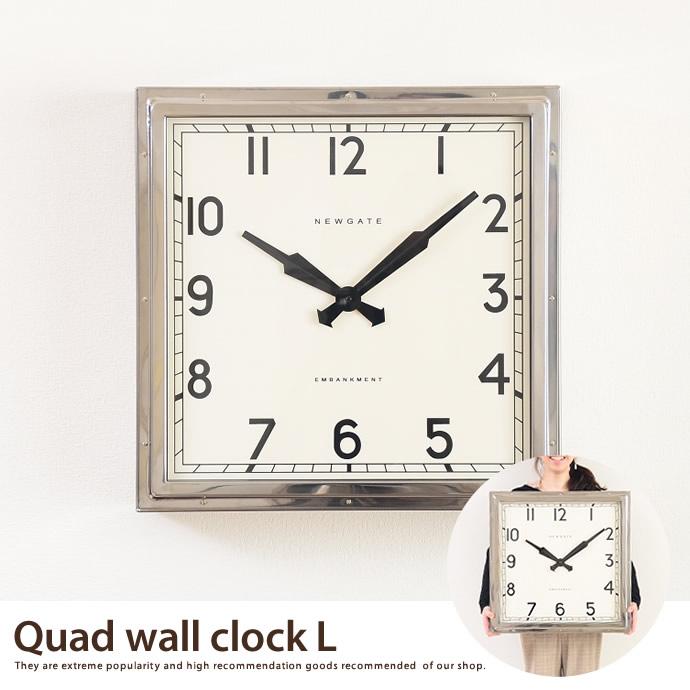 送料無料!【大型時計】Quad wall clock(L) Quad wall clock 【L】 【54×54cm】 掛け時計 【NEW GATE ニューゲート】 大型時計 シルバー