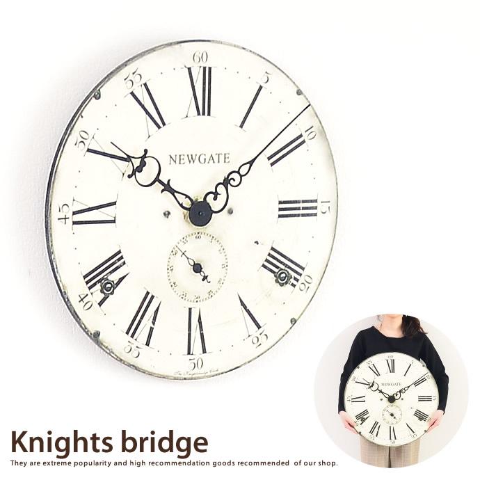 送料無料!【大型時計】Knights bridge 【50×50cm】 アンティーク 掛け時計 【NEW GATE ニューゲート】 大型時計 ホワイト