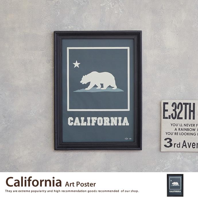 送料無料!【アートポスター】California Art Poster アートポスター ポスター ウッドフレーム 壁掛け 床置き インテリア>インテリア小物 カリフォルニア