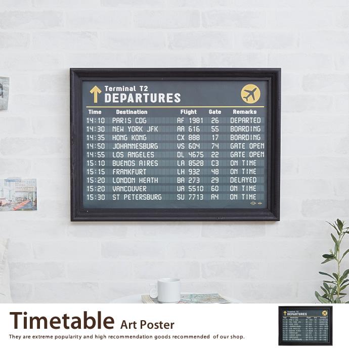 送料無料!【アートポスター】Timetable Art Poster アートポスター ポスター ウッドフレーム 壁掛け 床置き インテリア>インテリア小物 タイムテーブル