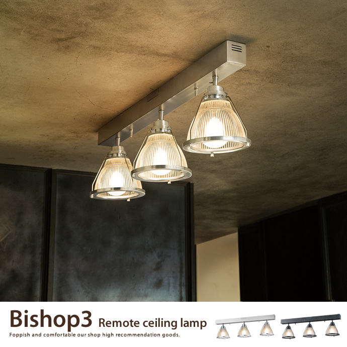 Bishop 3 remote ceiling lamp