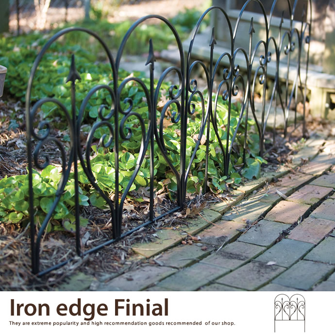 Iron edge Finial