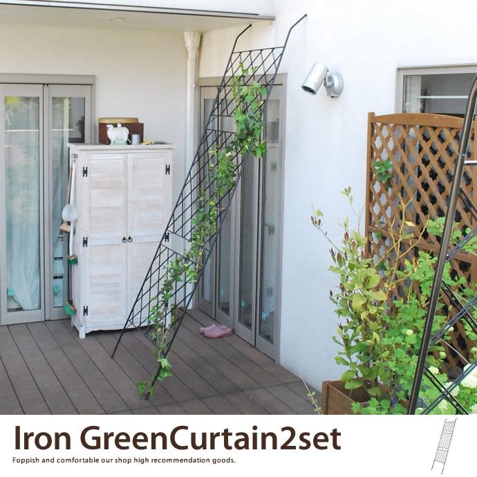 Iron Green Curtain 2Set